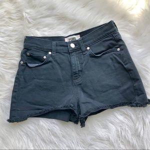 VS PINK High Waisted Black Denim Shorts